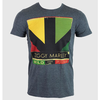 tričko pánske Ziggy Marley - Wild & Free Album - Heather Gray - KINGS ROAD, KINGS ROAD, Ziggy Marley