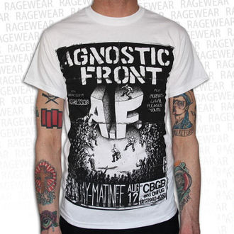 tričko pánske Agnostic Front - Old School - White - RAGEWEAR, RAGEWEAR, Agnostic Front