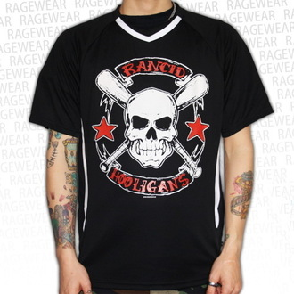 tričko pánske (dres) Rancid - Hooligans Big Skull - Black - RAGEWEAR, RAGEWEAR, Rancid