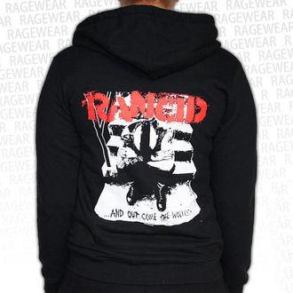mikina dámska Rancid - Wolves - Black - RAGEWEAR, RAGEWEAR, Rancid