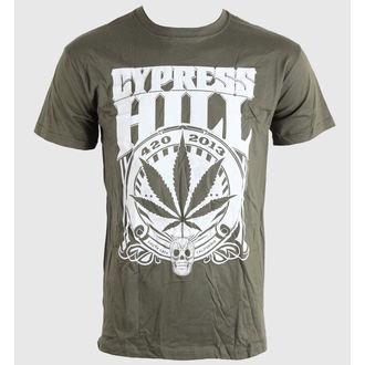 tričko pánske Cypress Hill - 420 2013 - Khaki - BRAVADO EU, BRAVADO EU, Cypress Hill