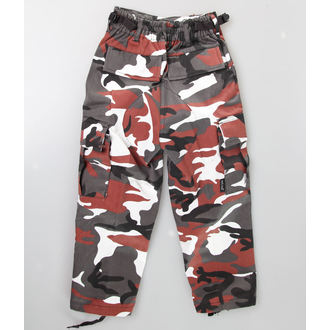 nohavice detské MIL-TEC - US Hose - Red Camo, MIL-TEC