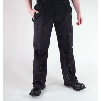 nohavice pánske MIL-TEC - Fliegerhose - Prewash Black, MIL-TEC