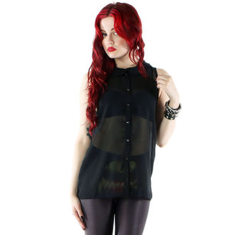 košele dámska IRON FIST - Spineless Peter Pan Collar - Black, IRON FIST