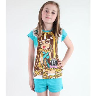 pyžamo dievčenská TV MANIA - Monster High - White/Turquise, TV MANIA