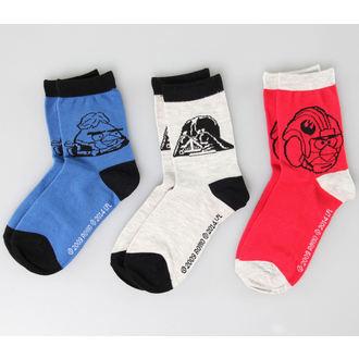 ponožky TV MANIA - Star Wars - Black/Blue/Red, TV MANIA