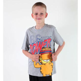 tričko chlapčenské TV MANIA - Garfield - Grey, TV MANIA