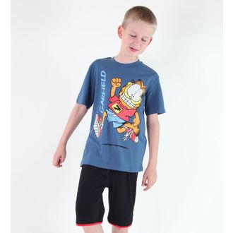 tričko chlapčenské TV MANIA - Garfield - Blue