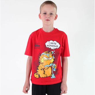 tričko chlapčenské TV MANIA - Garfield - Red, TV MANIA