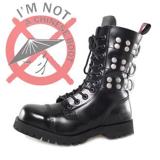 topánky NEVERMIND - 10 dierkové - Rivets Black, NEVERMIND