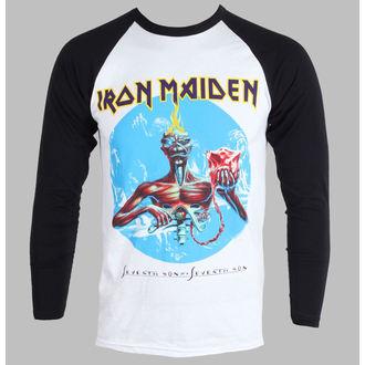 tričko pánske s dlhým rukávom Iron Maiden - Seventh Son - White - IMRL01