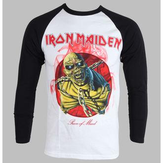 tričko pánske s dlhým rukávom Iron Maiden - Piece Of Mind - White, ROCK OFF, Iron Maiden