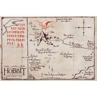 plagát The Hobit - Mountain Map, GB posters