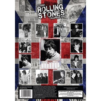 kalendár na rok 2015 ROLLING STONES, NNM, Rolling Stones