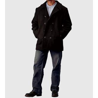 kabát pánsky ROTHCO - PEA COAT - BLACK - 7070