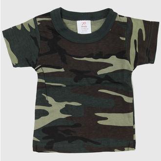 tričko detské ROTHCO - WOODLAND CAMO, ROTHCO