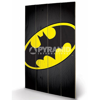 drevený obraz DC Comics - Batman Symbol - PYRAMID POSTERS, PYRAMID POSTERS