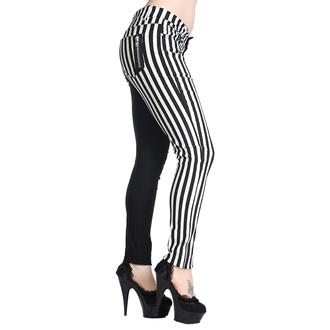 nohavice BANNED - Striped Trousers - Half Black/Half White - TBN416WHT