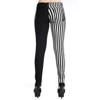 nohavice BANNED - Striped Trousers - Half Black/Half White, BANNED