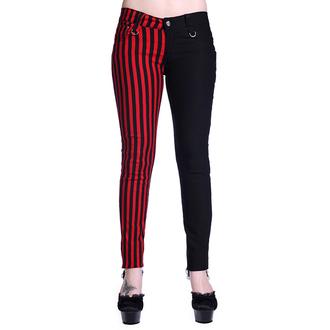 nohavice dámske BANNED - Striped - Half Black/Half Red