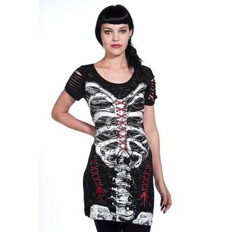 šaty dámske (tunika) BANNED - Corset Skeleton - OBN121