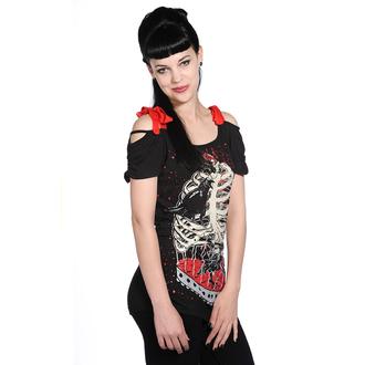 tričko dámske (top) BANNED - Bird In Skeleton Cage - Black, BANNED