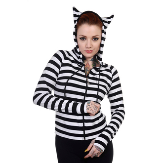 mikina dámska BANNED - Cat Ears White Striped, BANNED