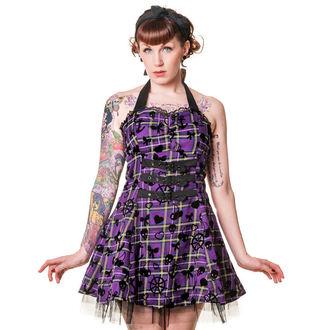 šaty dámske BANNED - Purple Tartan, BANNED