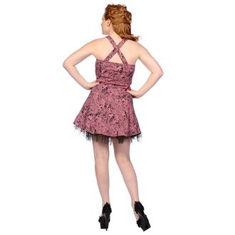 šaty dámske BANNED - Pink Skull And Roses, BANNED