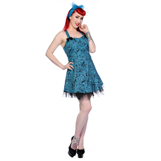 šaty dámske BANNED - Blue Skull Roses - DBN526BLU