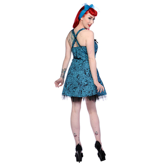 šaty dámske BANNED - Blue Skull Roses, BANNED
