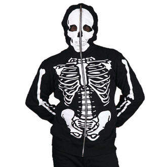 mikina pánska BANNED - Skeleton - Black, BANNED
