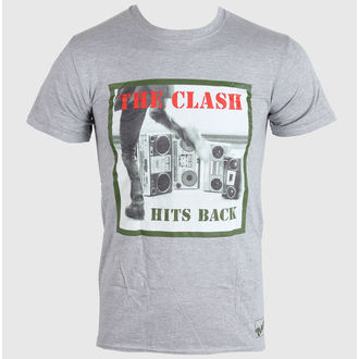 tričko pánske THE CLASH - HITS BACK - GREY - LIVE NATION, LIVE NATION, Clash