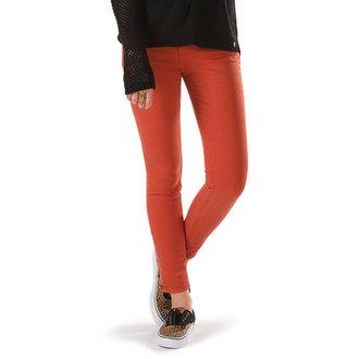 nohavice dámske VANS - Moto Skinny Denim - Ketchup, VANS