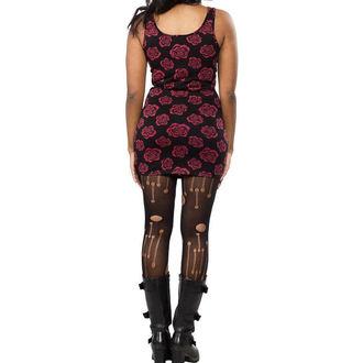 šaty dámske SOURPUSS - Omni Roses Tank - Black, SOURPUSS