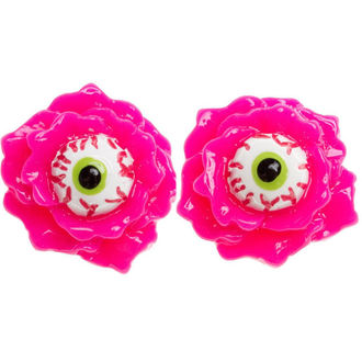 náušnice SOURPUSS - Eyeball Corsage - Pink, SOURPUSS