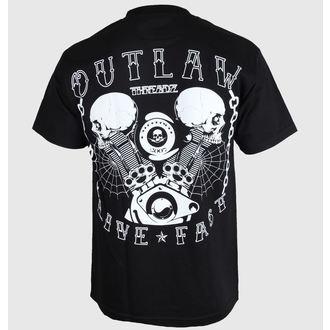 tričko pánske Outlaw Threadz - Live Fast