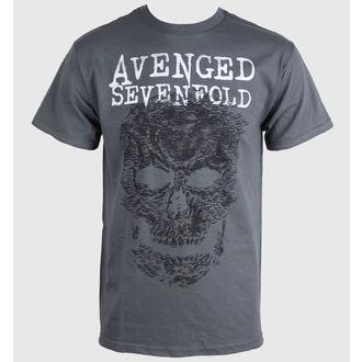 tričko pánske Avenged Sevenfold - Skull - Grey - BRAVADO, BRAVADO, Avenged Sevenfold
