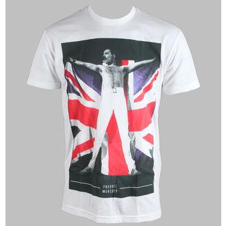 tričko pánske Freddie Mercury - Flag - White - BRAVADO, BRAVADO, Queen