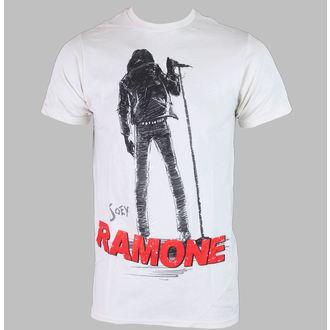 tričko pánske JOEY RAMONE - SILHOUETTE - Creme - BRAVADO, BRAVADO, Ramones