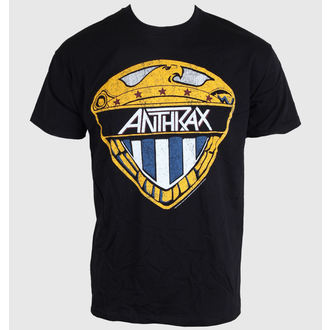 tričko pánske Anthrax - Eagle Shield - Black - ROCK OFF, ROCK OFF, Anthrax