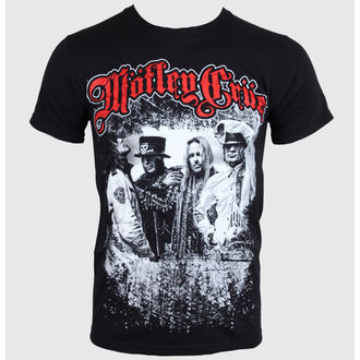 tričko pánske Mötley Crüe - Greatest Hits Bandshot - Black - ROCK OFF - MOTTEE06MB