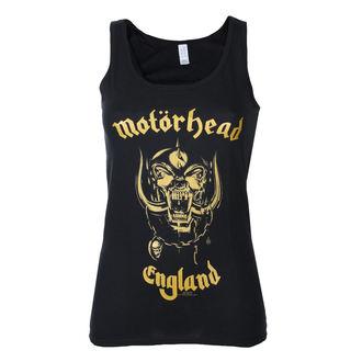 tielko dámske Motörhead - England Gold - Black - ROCK OFF, ROCK OFF, Motörhead