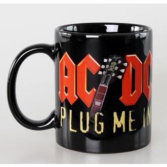 hrnček AC/DC - Plug Me In - Ceramic - ROCK OFF, ROCK OFF, AC-DC