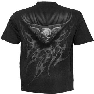 tričko pánske SPIRAL - UNZIPPED - BLK - TR373600