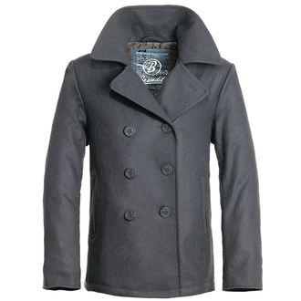 bunda pánska zimný (KABÁT) Brandit - Pea Coat - Anthrazit - 3109/5 (9156/5)