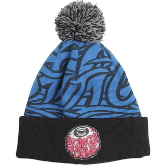 čiapka SANTA CRUZ - Eyeball Bobble - Blue Black, SANTA CRUZ