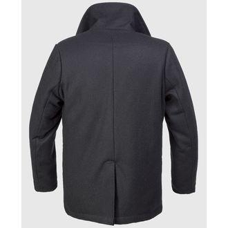 kabát pánsky zimný Brandit - Pea Coat - Black, BRANDIT