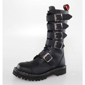 topánky KMM 14 dierkové - 5P - Black, KMM