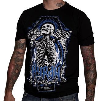 tričko pánske HYRAW - Skull & Bones - Black - HY010